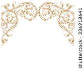 premium gold vintage baroque...   Shutterstock .eps vector #336918641