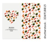 vector sushi menu template with ... | Shutterstock .eps vector #336918815