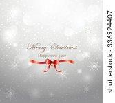 merry christmas greeting on... | Shutterstock .eps vector #336924407