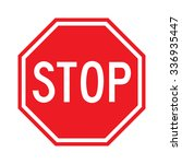 stop sign  vector illustration | Shutterstock .eps vector #336935447