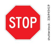 stop sign. vector illustration.