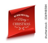 we wish you a very merry... | Shutterstock .eps vector #336948584