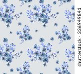seamless pattern with bouquets... | Shutterstock . vector #336949841