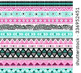 colored tribal navajo seamless... | Shutterstock .eps vector #336952451