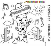 mariachi chili pepper playing...   Shutterstock .eps vector #336952871