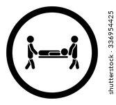 patient stretcher vector icon.... | Shutterstock .eps vector #336954425