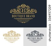 monogram design elements ... | Shutterstock .eps vector #336957209