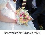 beautiful wedding bouquet in... | Shutterstock . vector #336957491