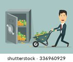 vector flat illustration of a... | Shutterstock .eps vector #336960929