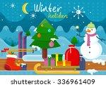 winter christmas holidays... | Shutterstock .eps vector #336961409