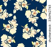 seamless pattern with flowers... | Shutterstock . vector #336962765