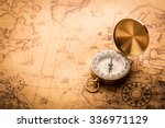 compass on old map vintage style | Shutterstock . vector #336971129