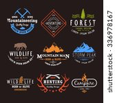 set of premium labels on the... | Shutterstock . vector #336978167
