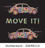 vector hippie beetle car. | Shutterstock .eps vector #33698113