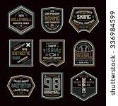 set of sports badges.... | Shutterstock .eps vector #336984599
