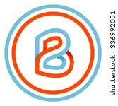 b letter design template. this...   Shutterstock .eps vector #336992051