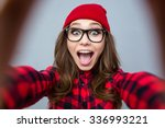 portrait of a cheerful woman... | Shutterstock . vector #336993221
