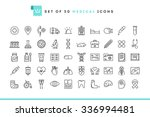 set of 50 medical icons  thin...
