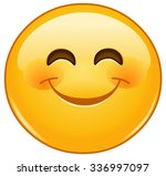smiling emoticon with happy... | Shutterstock .eps vector #336997097