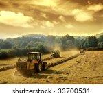 Постер, плакат: tractors on work
