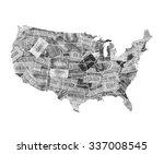usa map | Shutterstock . vector #337008545