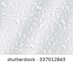 background of water droplets on ... | Shutterstock .eps vector #337012865