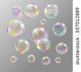 Set Of Multicolored Transparen...