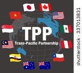 tpp trans pacific partnership ... | Shutterstock .eps vector #337013831