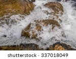 water splash on roch at...   Shutterstock . vector #337018049