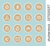 travel web icons set | Shutterstock .eps vector #337020257