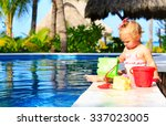 cute toddler girl playing in... | Shutterstock . vector #337023005