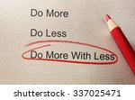 do more with less circled in... | Shutterstock . vector #337025471