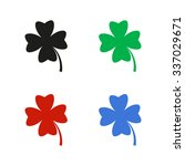 clover with four leaves   color ...