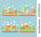 ecology city scenery concept in ... | Shutterstock .eps vector #337030115