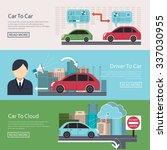 iot in automotive concept... | Shutterstock .eps vector #337030955
