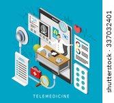 telemedicine concept in 3d... | Shutterstock .eps vector #337032401