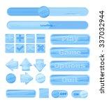 universal winter ice ui kit for ... | Shutterstock . vector #337032944