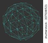 polygonal 3d vector globe with... | Shutterstock .eps vector #337038521