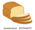 Vector White Bread Slices