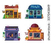 set of nice shops. different... | Shutterstock .eps vector #337043849