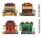 set of nice shops. different...   Shutterstock .eps vector #337043897