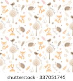 Forest Seamless Pattern With...