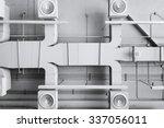 air conditioner ventilation... | Shutterstock . vector #337056011