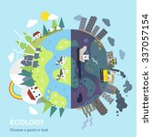 environmental protection... | Shutterstock . vector #337057154