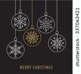 snowlakes  geometric christmas... | Shutterstock .eps vector #337063421