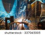 the movement of the welding... | Shutterstock . vector #337065005