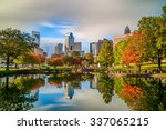 skyline of downtown charlotte... | Shutterstock . vector #337065215