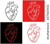 a set of human hearts | Shutterstock .eps vector #337065431