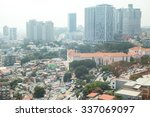 Small photo of LUANDA, ANGOLA - AUGUST 2, 2015 - The contrast of Luanda between rich and poor