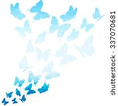 Blue Triangle Butterflies Swir...